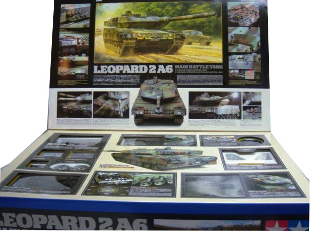 Tamiya 56020 1 16 Leopard 2 A6 Main Battle Tank Kit Samirc