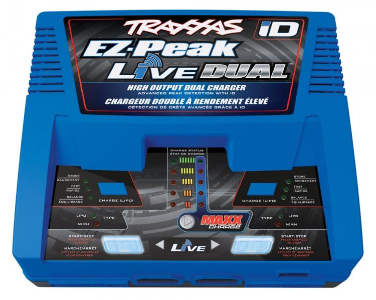 Traxxas 2973 EZ Peak Live Dual 26A NiMHLiPo Charger Auto iD